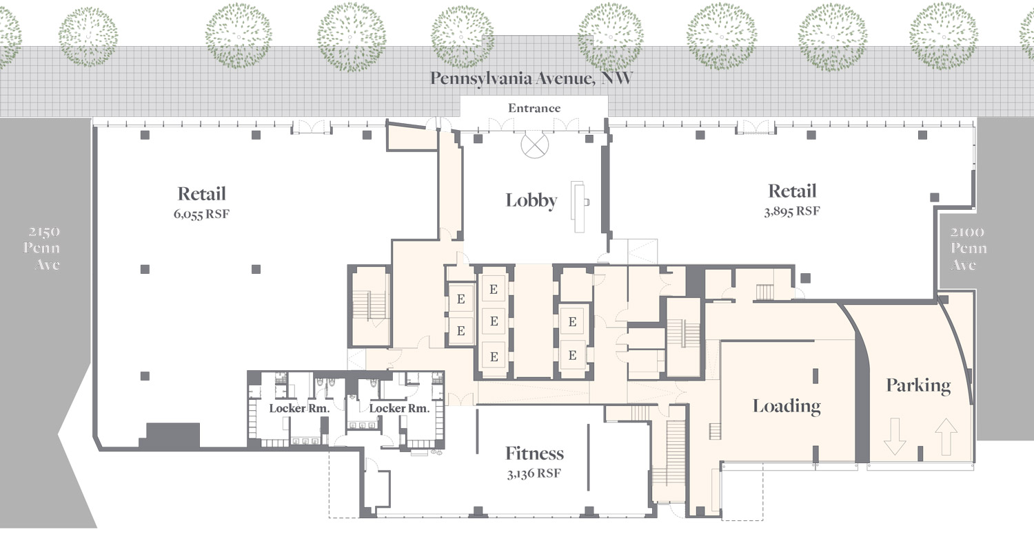 2112 Pennsylvania Avenue Floorplan